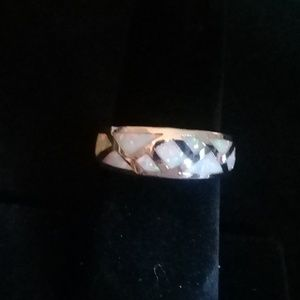Silver and opal ring size 7